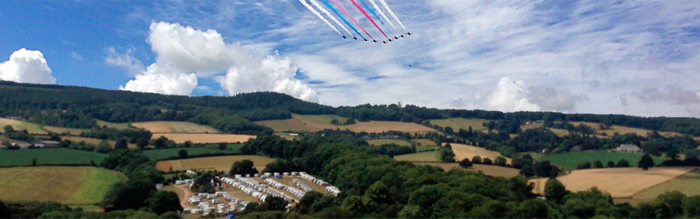 The Red Arrows over Haldon Forest Holiday Park